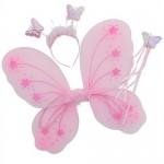 Çocuklar İçin Giyilebilir Lastikli Kelebek Kanadı-Asa ve Taç Seti